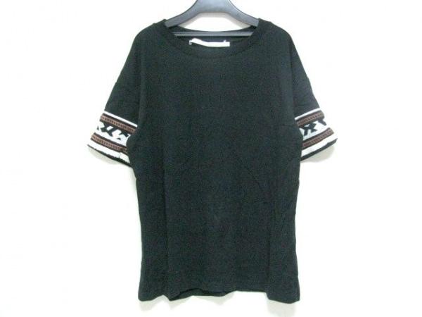 TELA(テラ) 半袖カットソー サイズS レディース 黒×白×ブラウン
