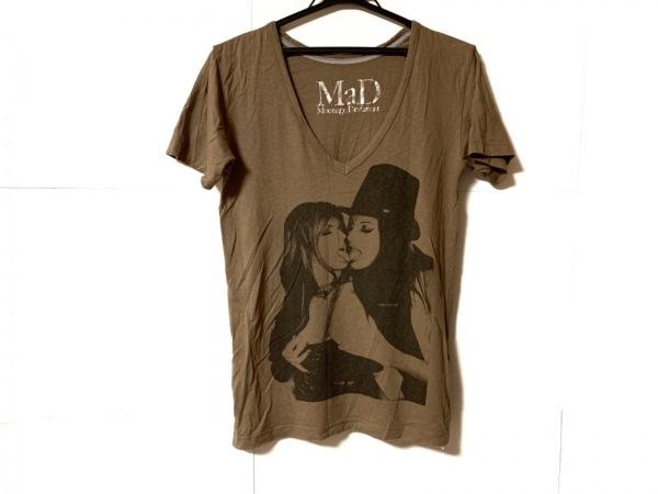 ムーンエイジデビルメント 半袖Tシャツ サイズ44 L メンズ ベージュ×黒