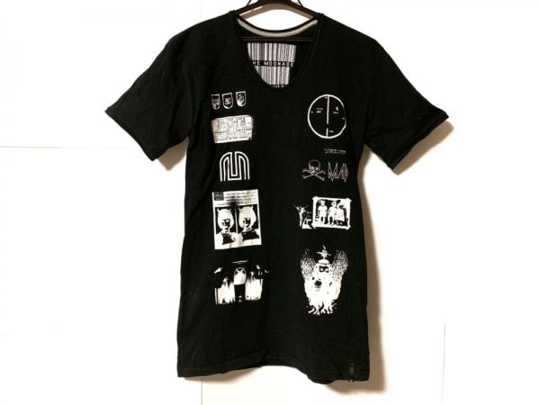 ムーンエイジデビルメント 半袖Tシャツ サイズ46 XL メンズ 黒×白