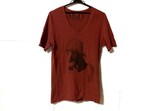 ムーンエイジデビルメント 半袖Tシャツ サイズ44 L メンズ ボルドー×黒