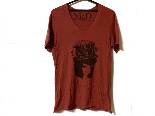 ムーンエイジデビルメント 半袖Tシャツ サイズ44 L メンズ ボルドー
