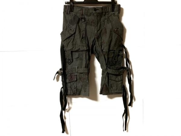 Roen(ロエン) ショートパンツ サイズ28 メンズ グレー×ボルドー×グリーン