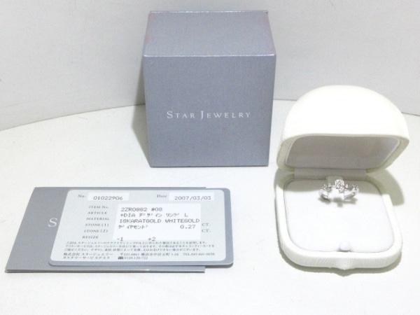 STAR JEWELRY(スタージュエリー) リング美品  K18WG×ダイヤモンド 総0.27カラット