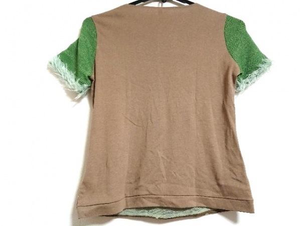 アンティパスト 半袖セーター レディース新品同様  ブラウン×グリーン×マルチ