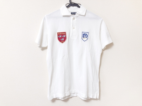 Drumohr(ドルモア) 半袖ポロシャツ サイズS レディース美品  白×レッド×マルチ