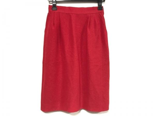 イヴサンローラン スカート サイズ36 S レディース美品  レッド ラメ