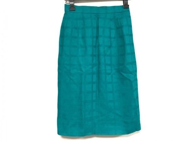 イヴサンローラン スカート サイズ36 S レディース ライトブルー チェック柄