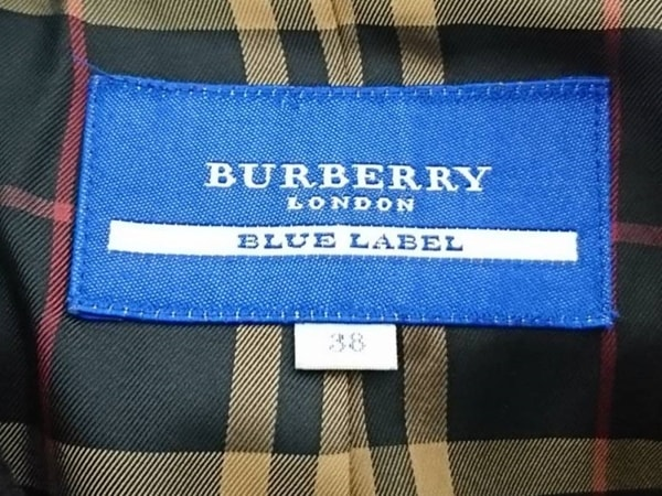 バーバリーブルーレーベル コート サイズ38 M レディース美品  ダークネイビー 冬物