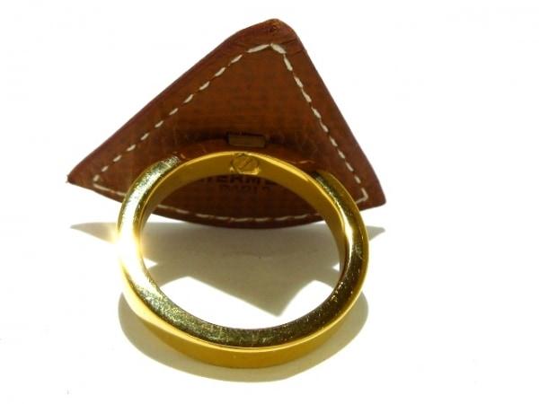 エルメス スカーフリング - ヴォーエプソン×金属素材 ゴールド 2