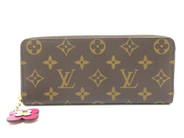 ルイヴィトン 長財布 モノグラム美品  ポルトフォイユ・クレマンス M64201 モノグラム