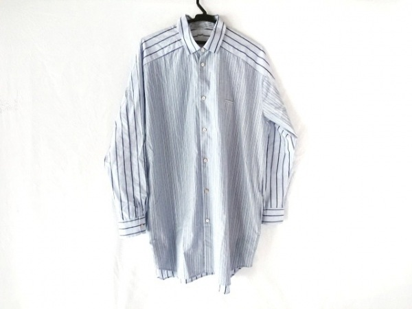 Dulcamara(ドゥルカマラ) 長袖シャツ サイズ1 S メンズ ライトブルー×白×黒