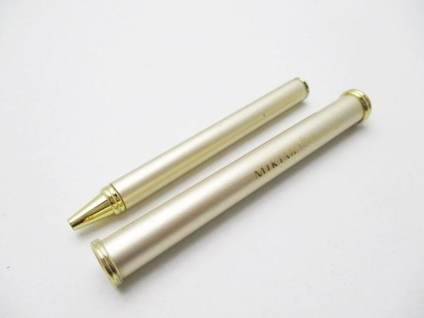 ミキモト ボールペン シャンパンゴールド×アイボリー パール/インクなし 金属素材