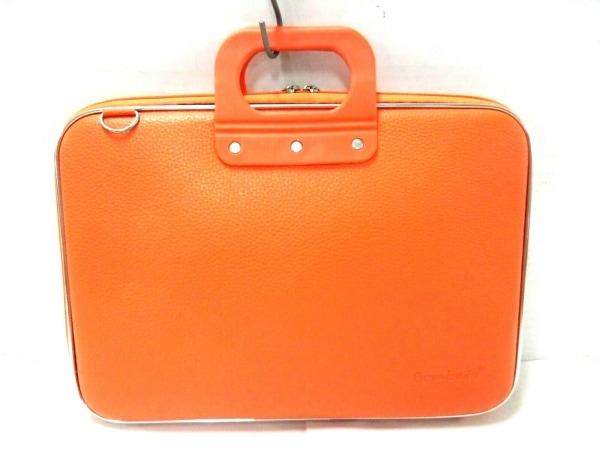 Bombata(ボンバータ) ビジネスバッグ美品  オレンジ レザー×ラバー