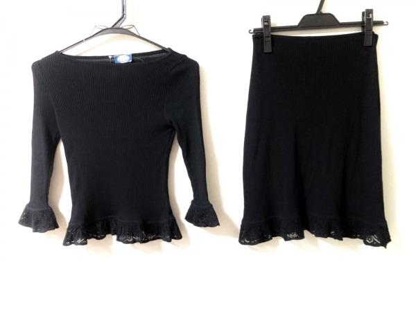 ブルーガール・アンナモリナーリ スカートセットアップ レディース美品  黒