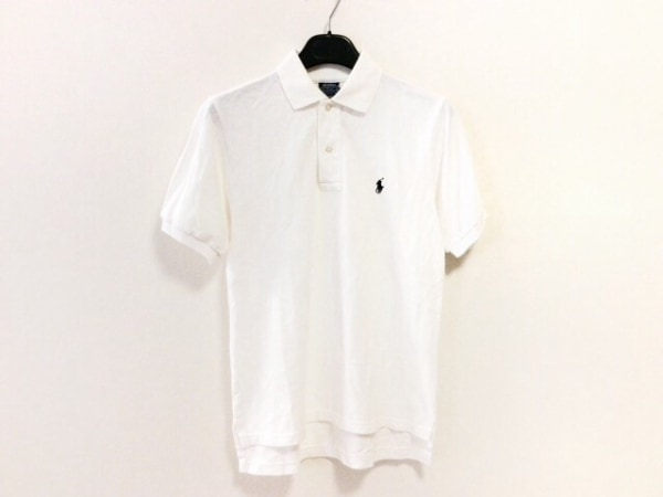 POLObyRalphLauren(ポロラルフローレン) 半袖ポロシャツ サイズM レディース 白