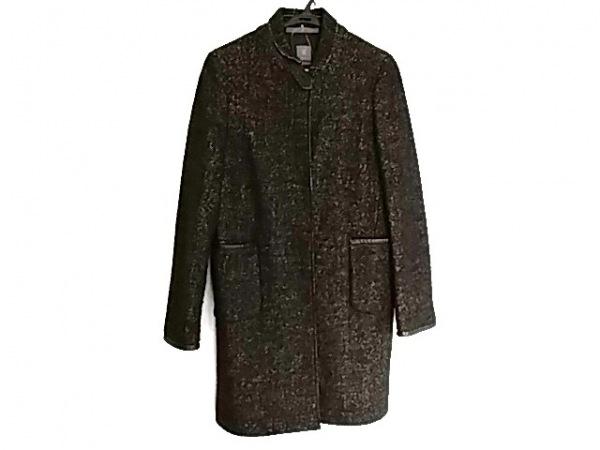 SEVENTY(セブンティ) コート サイズ42 L レディース美品  黒×アイボリー 冬物