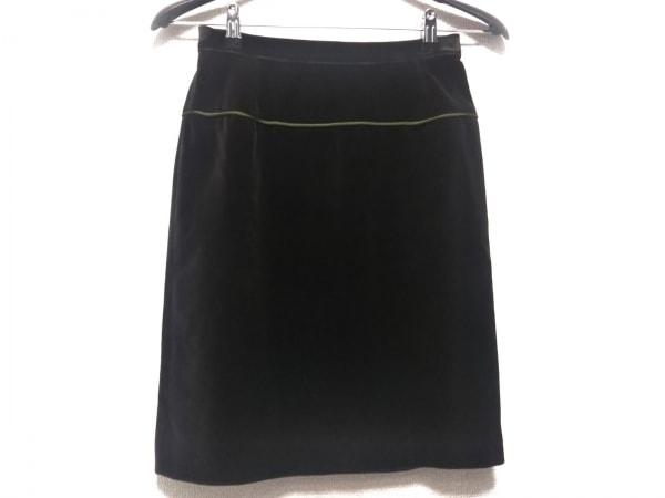 アンナモリナーリ スカート サイズ42 M レディース ダークグリーン ベロア