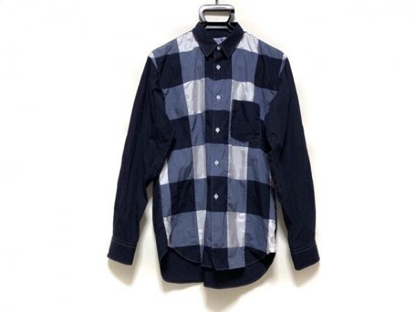 コムデギャルソンシャツ 長袖シャツ サイズS メンズ ダークネイビー×ネイビー×白