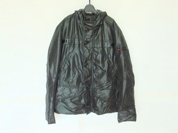 PEUTEREY(ピューテリー) ダウンジャケット サイズM メンズ 黒 冬物/ジップアップ