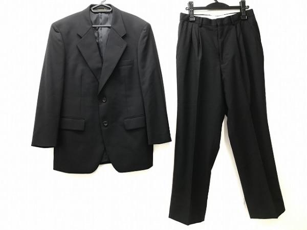 DURBAN(ダーバン) シングルスーツ メンズ 黒 ネーム刺繍