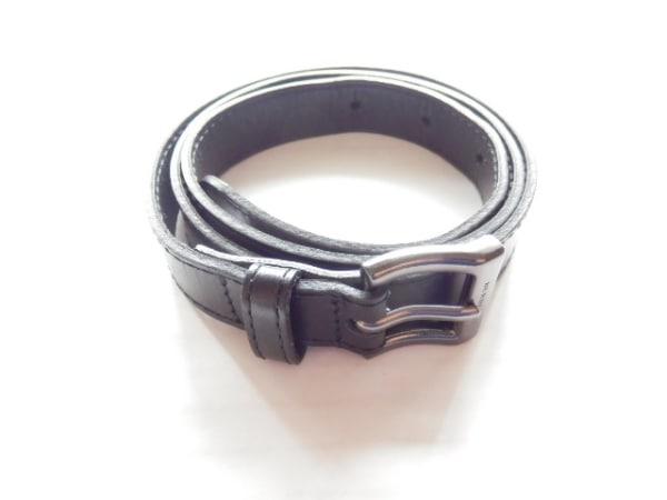 Burberry(バーバリー) ベルト 黒 レザー×金属素材