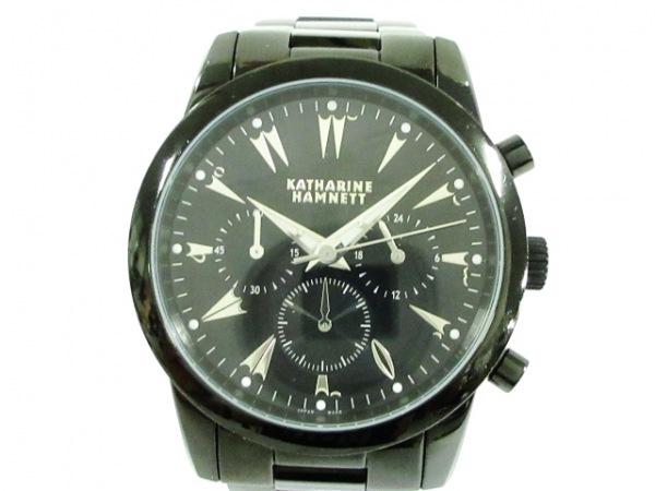 キャサリンハムネット 腕時計美品  KH-23A5 メンズ クロノグラフ 黒