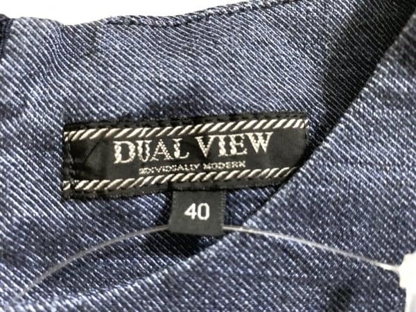 DUAL VIEW(デュアルヴュー) ワンピース サイズ40 M レディース ネイビー×シルバー