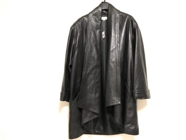 シャルルジョルダン コート サイズ38 M レディース美品  黒 冬物/レザー