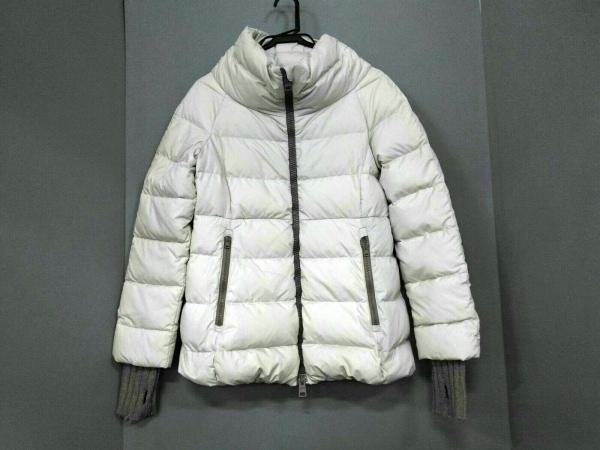 ヘルノ ダウンジャケット サイズ42 M レディース アイボリー ジップアップ/冬物