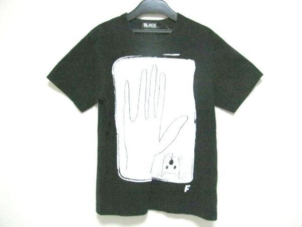 ブラックコムデギャルソン 半袖Tシャツ サイズS レディース 黒×白