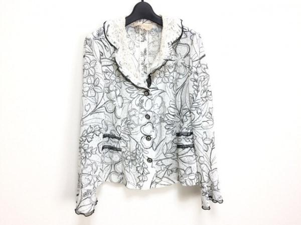 ROSSA(ロッサ) ジャケット サイズ46 XL レディース 白×黒 レース/春・秋物