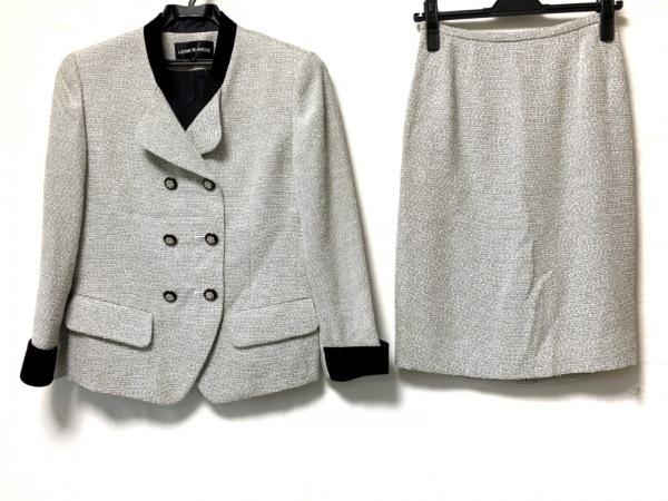lapine blanche(ラピーヌブランシュ) スカートスーツ サイズ9 M レディース 白×黒
