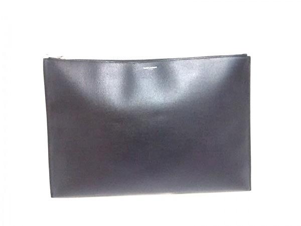 サンローランパリ バッグ 378261 黒 書類ケース PVC(塩化ビニール)