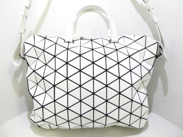 バオバオイッセイミヤケ ハンドバッグ BB63-AG203 白×黒 ポリウレタン×ポリエステル