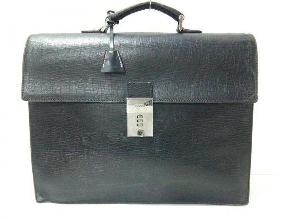 GUCCI(グッチ) ビジネスバッグ - 34045 黒 ロックナンバー「000」 レザー