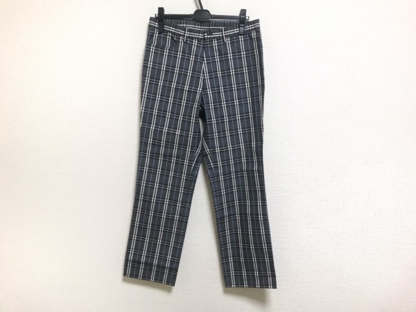 バーバリーブラックレーベル パンツ サイズ82 メンズ ダークグレー×白×ブルー