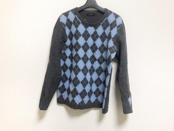 バーバリーブラックレーベル 長袖セーター サイズ3 L メンズ アーガイル