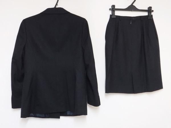 ニューヨーカー スカートスーツ サイズ9 M レディース 黒×ネイビー×マルチ