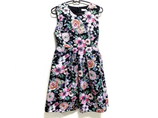 CHERRY ANN(チェリーアン) ワンピース サイズS レディース 黒×ピンク×マルチ 花柄