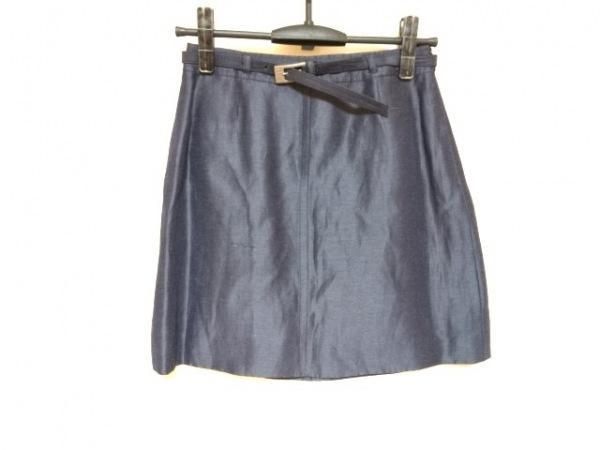 VALENTINO(バレンチノ) ミニスカート サイズ9 M レディース ネイビー