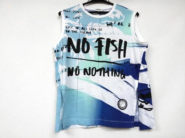 KENZO(ケンゾー) ノースリーブTシャツ サイズS レディース美品  白×ブルー×マルチ