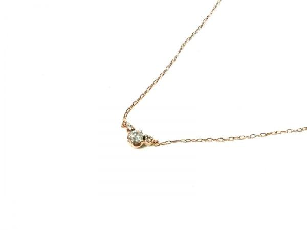 canal4℃(カナルヨンドシー) ネックレス美品  K10×ダイヤモンド 3Pダイヤ