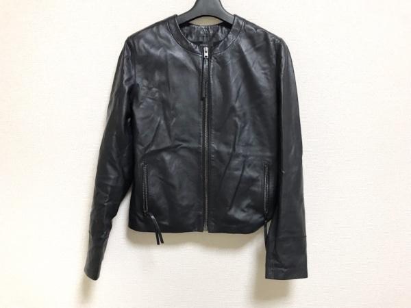 ジョセフ ブルゾン サイズ36 M レディース美品  黒 レザー/ノーカラー/春・秋物