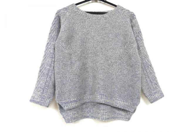 SACRA(サクラ) 長袖セーター サイズ38 M レディース パープル×ライトグレー