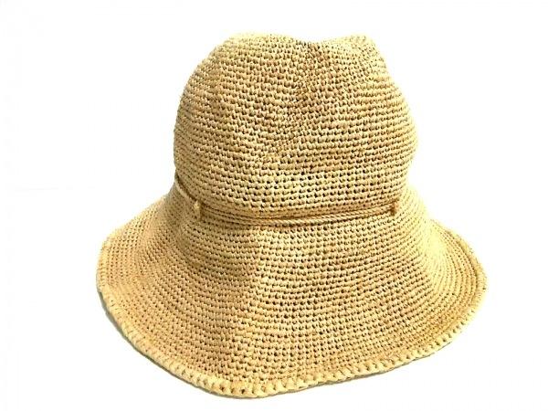HELEN KAMINSKI(ヘレンカミンスキー) ニット帽 ブラウン ラフィア