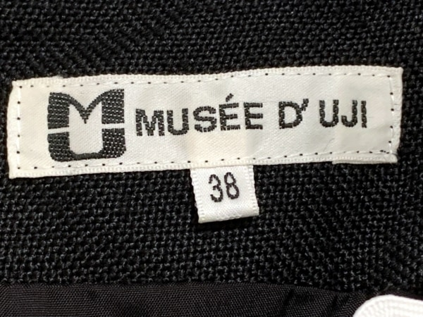 MUSEE D'UJI(ミュゼドウジ) ワンピース サイズ38 M レディース 黒×白
