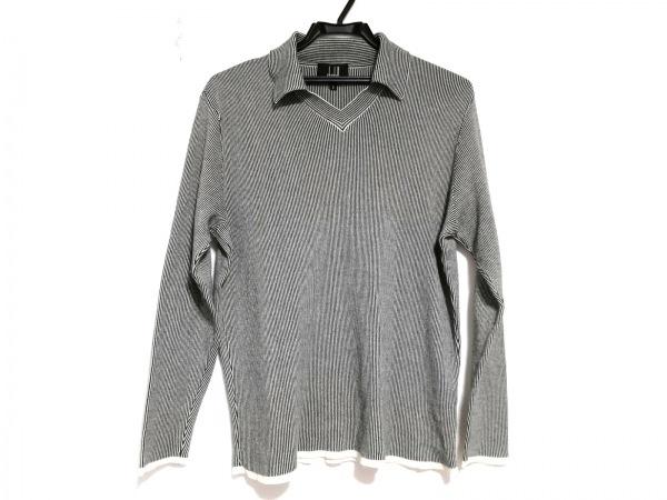ダンヒル 長袖カットソー サイズS レディース美品  黒×白 ボーダー