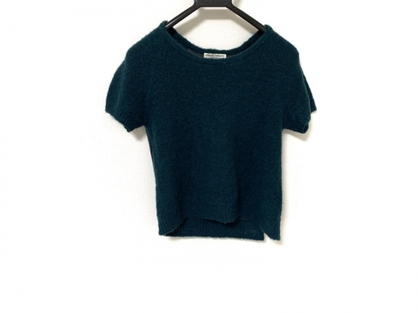 オープニングセレモニー 半袖セーター サイズM レディース美品  ダークグリーン