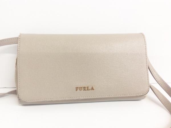 FURLA(フルラ) 財布 ライトブラウン ショルダーウォレット/ミラー レザー