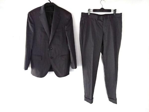 DURBAN(ダーバン) シングルスーツ メンズ ダークグレー×ボルドー